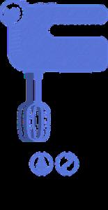 Vyobrazení ručního šlehače a jeho funkce