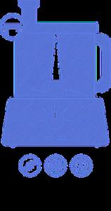 Vyobrazení stolního mixéru a jeho funkce