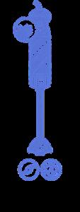 Vyobrazení tyčového mixéru a jeho funkce