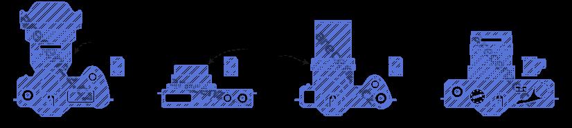 Znázornění jednotlivých druhů fotoaparátů a rozdílů v jejich konstrukcích