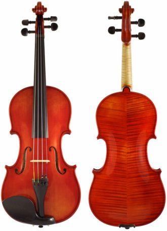 Ukázka produktu ve srovnání houslí