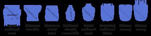 Vyobrazení různých nástavců na zastřihovač vousů