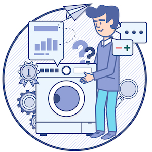 Znázornění průběhu získávání informací o produktech