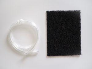Uhlíkový filtr v odvlhčovači Noaton DF 4114 zajišťuje čištění vzduchu. Kontinuální odtok lze zařídit hadičkou.