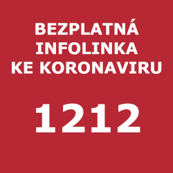 Zobrazení telefonního čísla bezplatné linky ke koronaviru