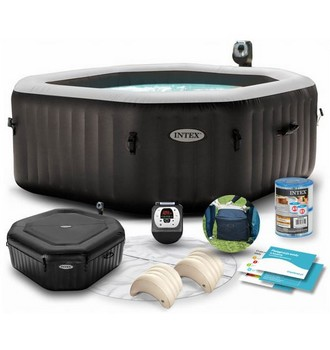 Recenze Intex 28454 Pure Spa Jet & Bubble Spa Deluxe Octagon