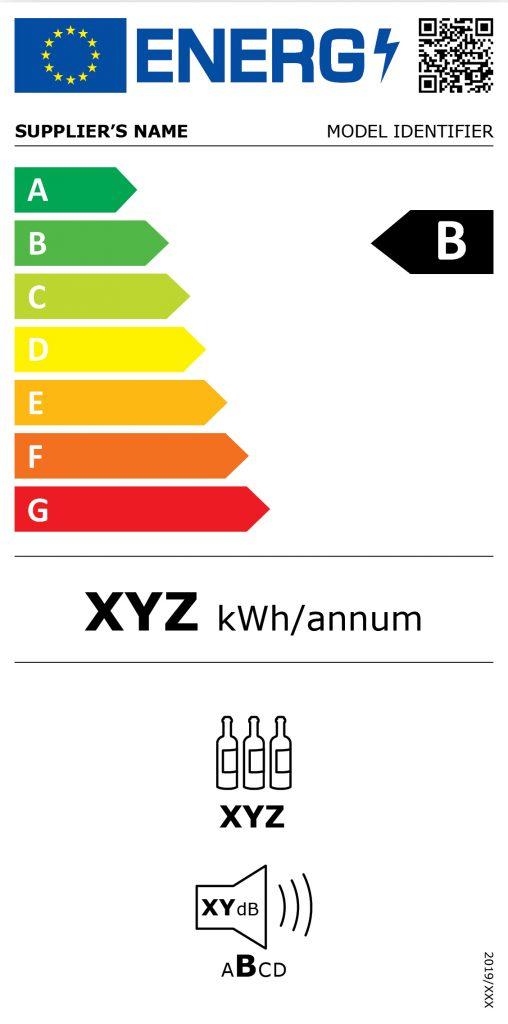 Zobrazení nového energetického štítku pro vinotéky
