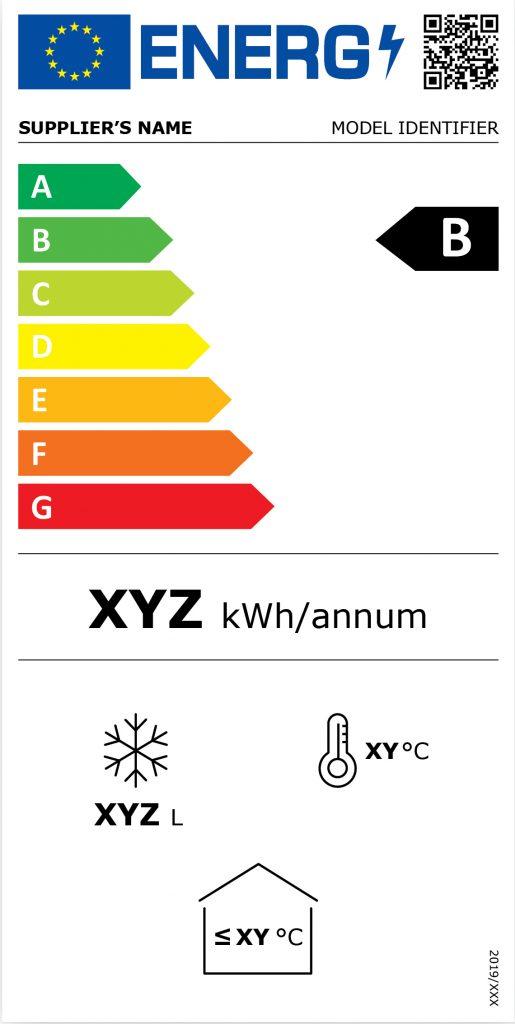 Zobrazení nového energetického štítku pro mrazáky