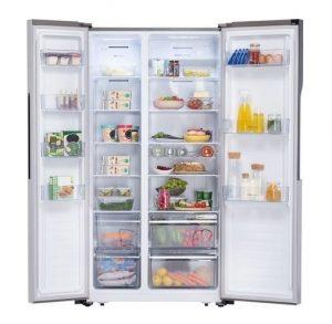 Vyobrazení vnitřního uspořádání lednice Gorenje NRS8182KX