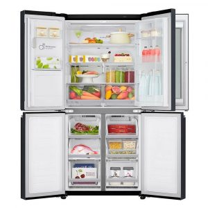 Vyobrazení vnitřního uspořádání lednice LG GMX844MCKV