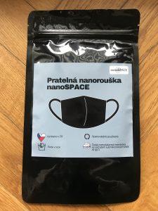 Fotografie balení roušky Nanospace