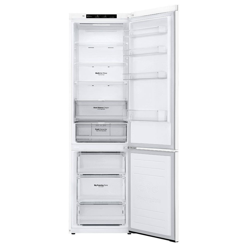 Vnitřní uspořádání ledničky LG GBB62SWGFN