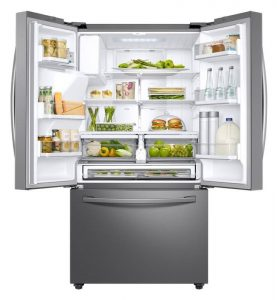 Vnitřní uspořádání americké lednice Samsung