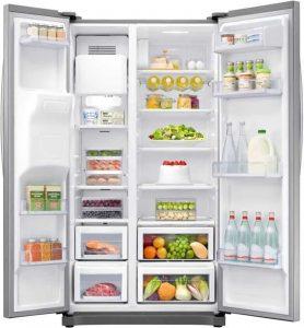 Obrázek vnitřního uspořádání lednice Samsung RS54N3003SA